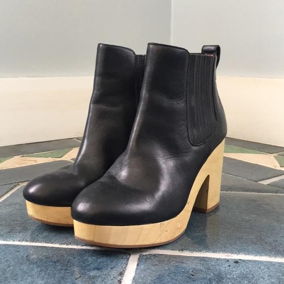057b6e58e15e Madewell Shoes - Madewell Marco wooden Chelsea clog boots.